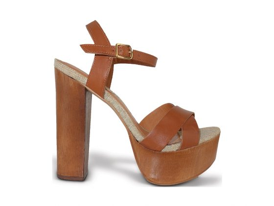 Kenza Whiskey High Heel Sandal by Sergio Zelcer, price available upon request. Available at sergiozelcer.com.