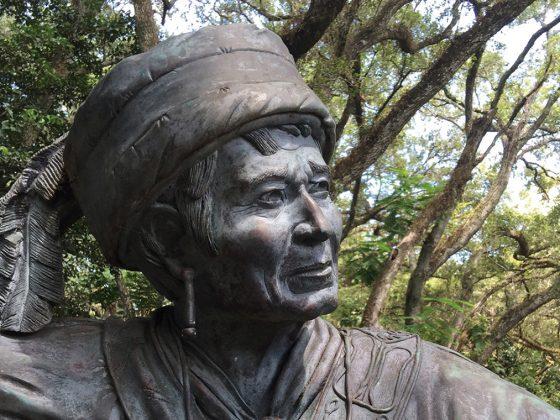 Statue of Sam Jones at Tree Tops Park in Davie.