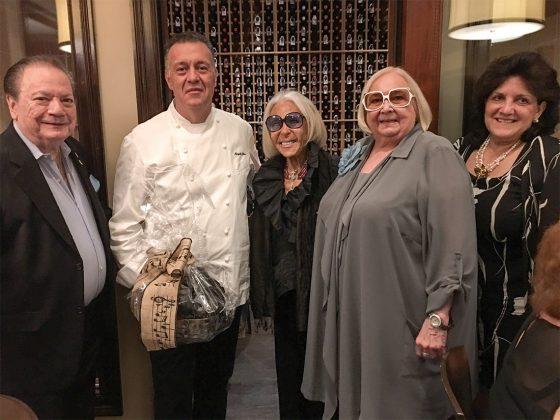 Maestro James Brooks-Bruzzese, Chef Angelo Elia, Madelyn Savarick, Melanie Popper and Renee Labonte.