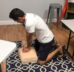 CPR training at Professional Yachtmaster Training.