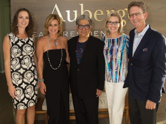 Kate Campbell, Pam Butler, Deepak Chopra, Kathy and Andy Mitchell.
