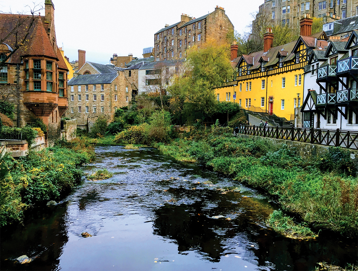 Historic buildings in Dean Village. Photography: Shutterstock / Thomas Hauschildt.