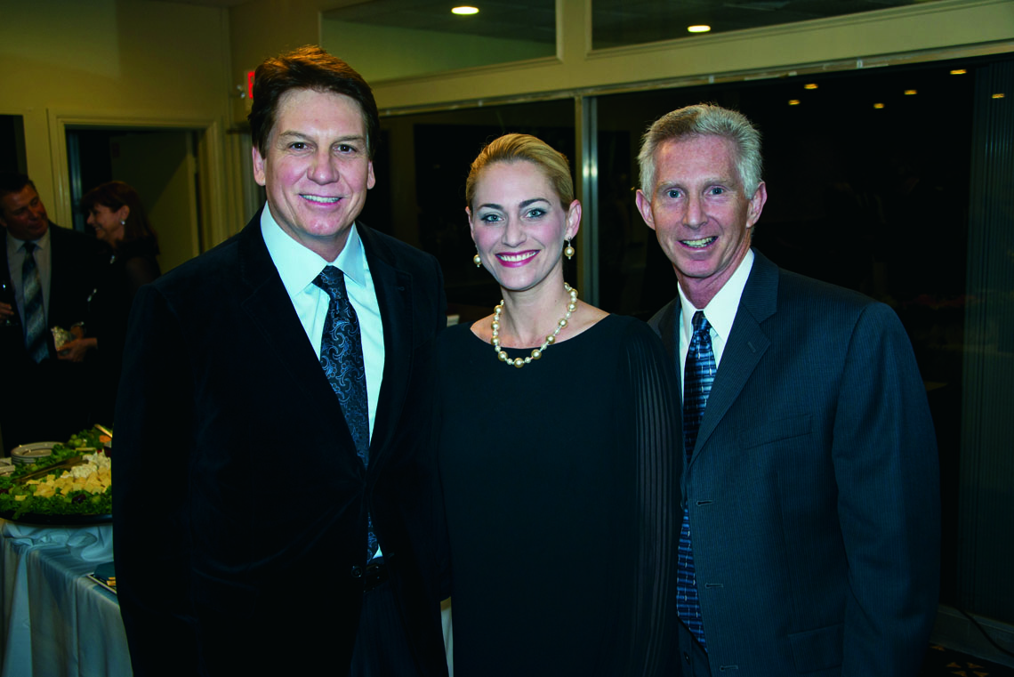 Robert Roselli, Jennifer Roselli and Dr. Steven Jacobs.