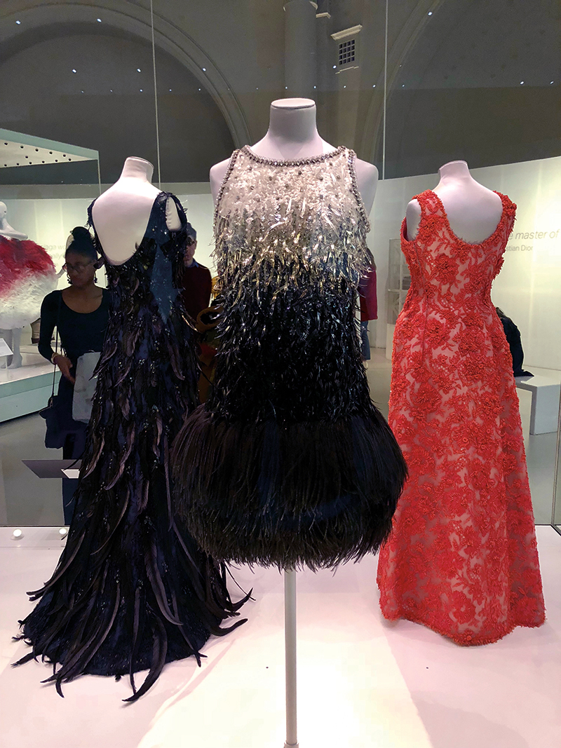 Evening dresses by Yves Saint Laurent on display. Photography: Shutterstock / pio3.