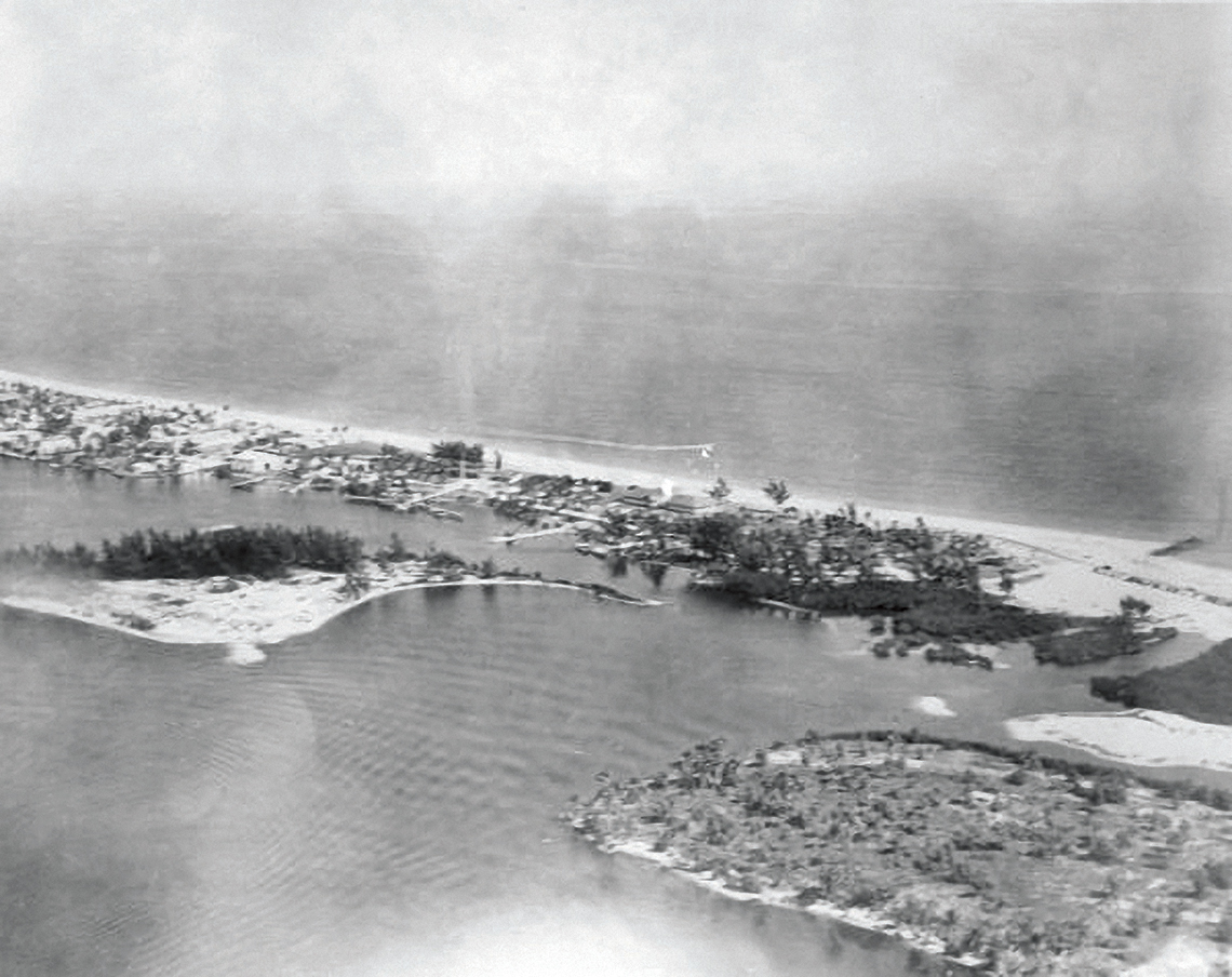 U.S. Coast Guard Base Six in the 1940s. PHOTOGRAPHY: State Archives of Florida, Florida Memory.