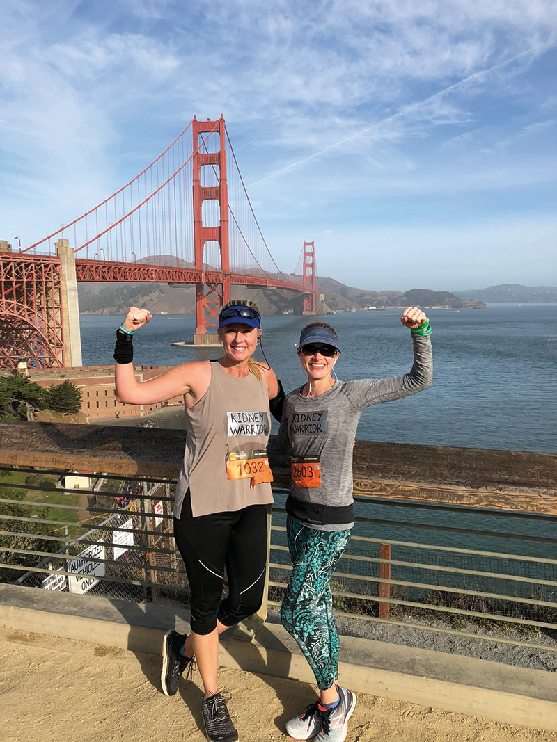 Shannon and Lisa at the Golden Gate Half Marathon.