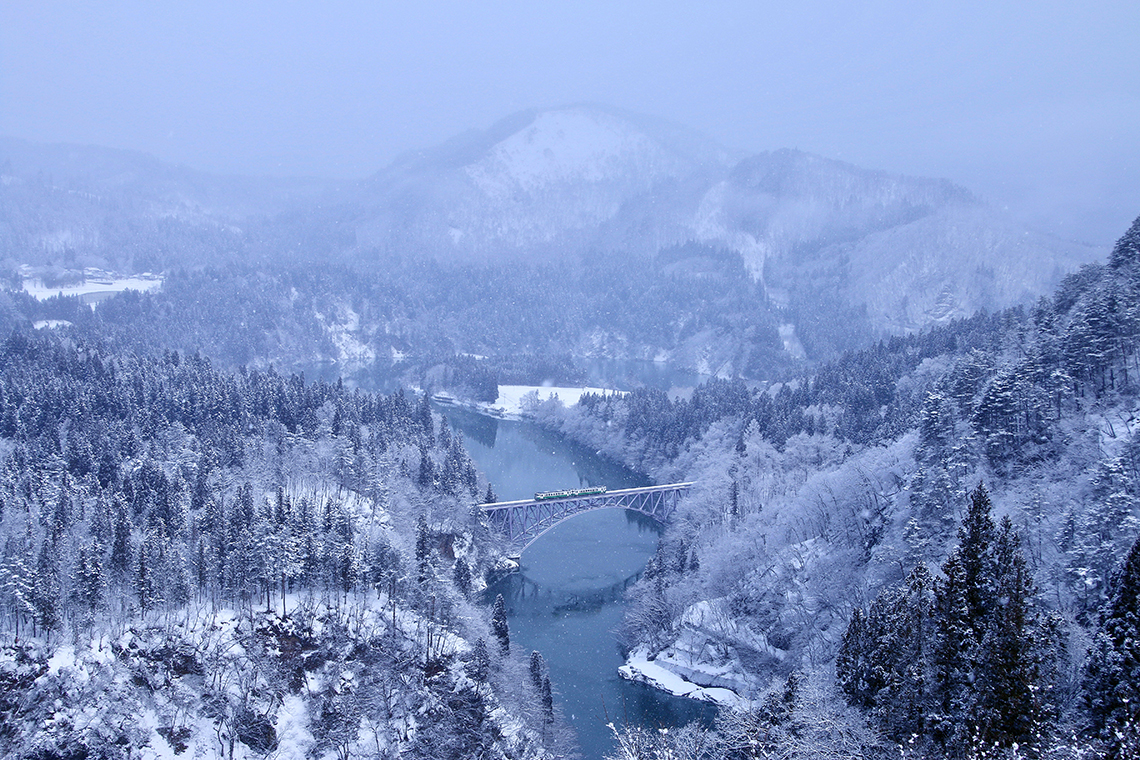 <em>The famous Tadami Line between Fukushima and Niigata. Photography: Shutterstock / tk312001.</em>