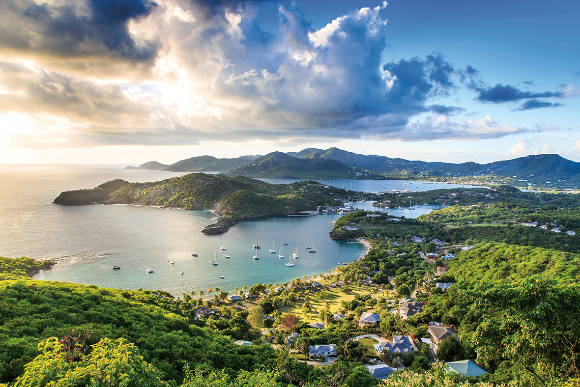 The view from Shirley Heights. Photography: Shutterstock / loneroc.