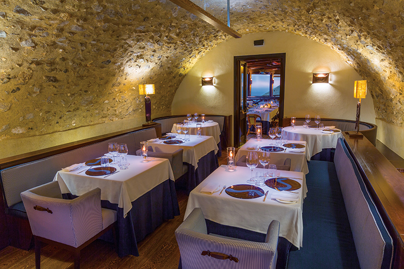 Fine dining at Monastero Santa Rosa is welcome after a day at the spa (above). Photography: Monastero Santa Rosa.