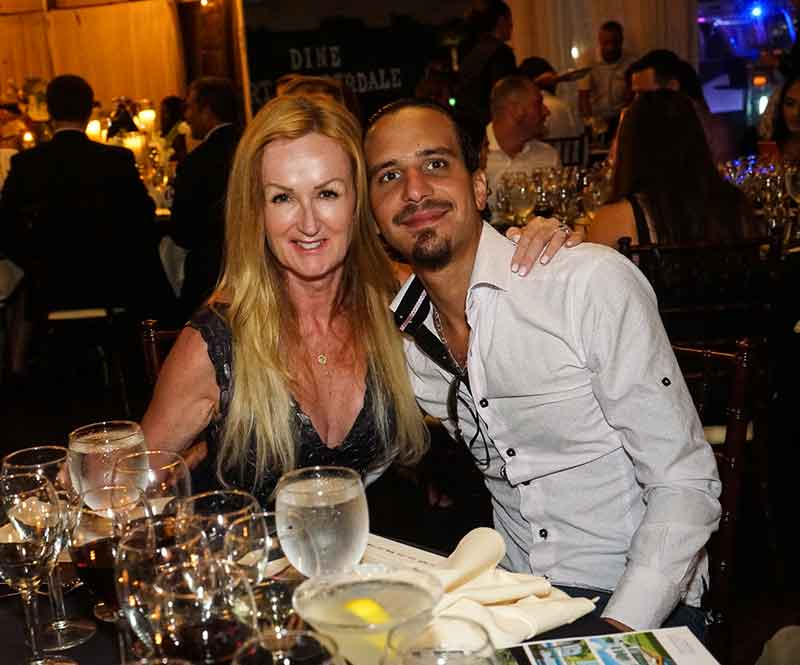 Julie Jones-Bernard and Louis Bernard at the Fusion Dinner. <em>Photography: Malcolm Mayo.</em>