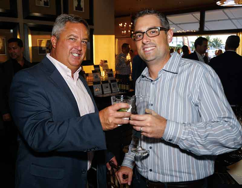 John Dunnick and Jonathan Martinez at the Fusion Dinner. <em>Photography: Malcolm Mayo.</em>
