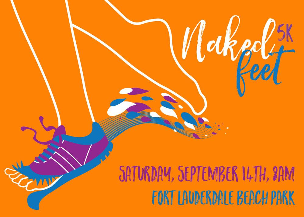 Naked Feet 5k 8am - Fort Lauderdale, FL 2016 | ACTIVE